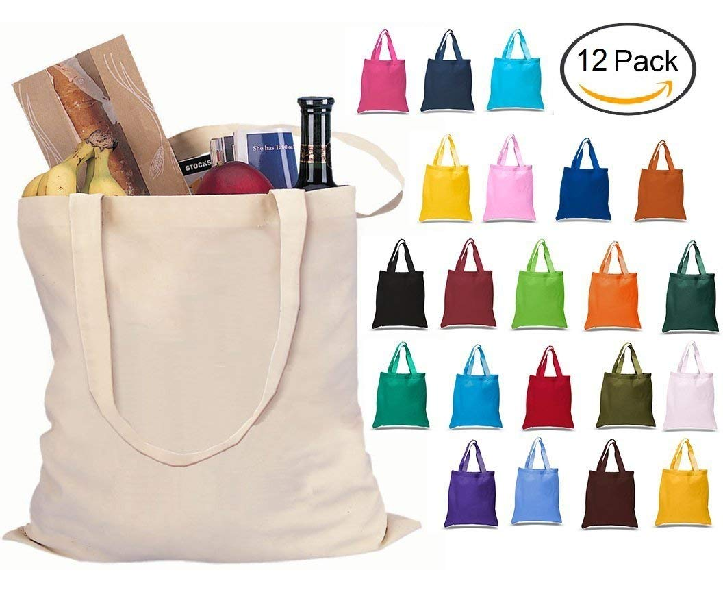 Ready Stock Cotton Canvas Tote Bag